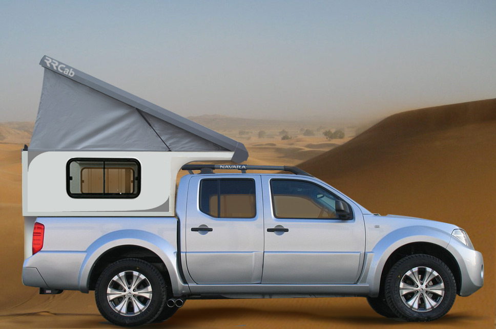 rrcab cellule de camping 4x4 amovible sur pick up nissan navara double cabine. Black Bedroom Furniture Sets. Home Design Ideas