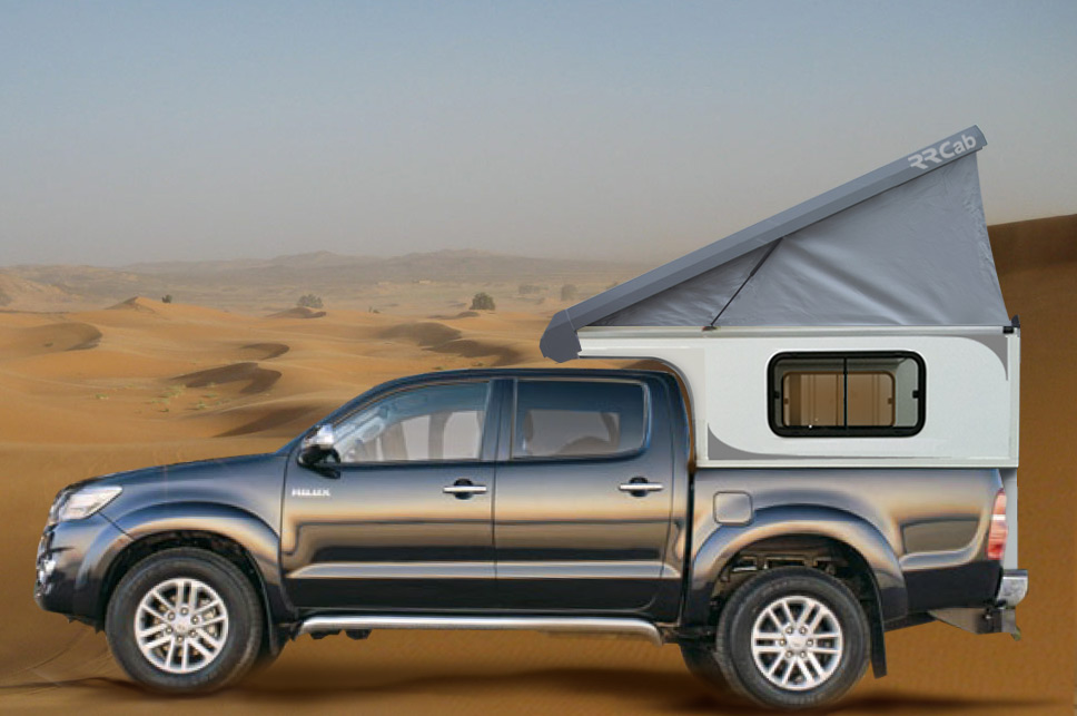 rrcab cellule de camping 4x4 amovible sur pick up toyota hilux double cabine. Black Bedroom Furniture Sets. Home Design Ideas